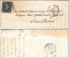ANTICHI STATI - SARDEGNA : Sassone 2 su BUSTA da  GENOVA 1852