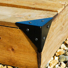 10cm Steel Corner Support Box Pyramid Brace Bracket Heavy Duty for Wood x 4