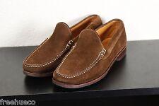 ALLEN EDMONDS Keene Chocolate Brown Suede Slip On Loafers Casual Shoes -US 9 EEE