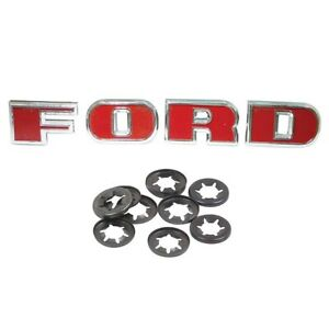 Letter Set with Starlock Washers fits Ford 2000 3000 4000 5000 Tractor
