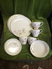 Royal Darwood Rosalie pattern 4 Cup & Saucer, 3 Dinner & 3 Bread Plates Dishes