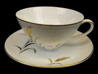 Correct Table Service CTS Eternal Harvest Coffee Tea Cup & Saucer White Gold Rim