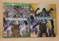 Crackdown 3 -- (Microsoft Xbox One) + Steelbook+ game / Brand New Sealed