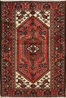 3'x5' Geometric Tribal Hamadan Oriental Area Rug Hand-Knotted Home Decor Carpet