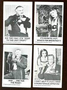 1964 Leaf Munsters Non Sport Trading Card Lot 4 Different VGEX