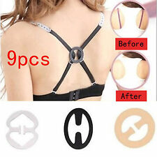 9x Bra Strap Clipper Push Up Clip Control Cleavage Boost Buckle Sports Racerback