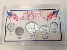 5 Coin American Obsolete Coin Collection Silver Franklin Washington Mercury