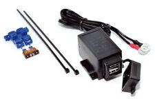 12V Motorcycle Twin USB Weatherproof Socket & Charging Cable