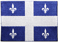 "Quebec Flag Embroidered Patch Sew On/Écusson Drapeau Québec À Coudre (2.5""X3.5"")"