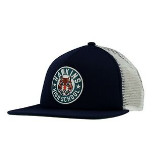 Nike Stranger Things Hawkins High Blue Snapback Trucker Hat CQ8461-419 One Size