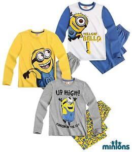 Minions Pajamas/Pyjama for Boys 100% Cotton Size 116-128-140-152 [New]