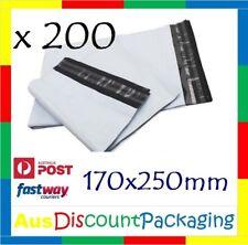200x PLASTIC COURIER BAG POLY MAILER COURIER POST SATCHEL 170x250mm Top Quality