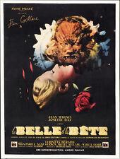 Affiche 40x60cm LA BELLE ET LA BÊTE 1946 Cocteau - Josette Day, Jean Marais RES