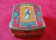 Ancienne Boîte à Poudre de Riz POMPEÏA L.T. PIVER PARIS Art Nouveau Numérotée