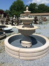 "72"" CHANTICLEER FTN W/ 6' FIBERGLASS POOL With Cast Stone Surround Coping"