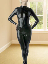 Latex Rubber Catsuit Black Handsome Zipper Tights Suit Sizes available XS- XXL