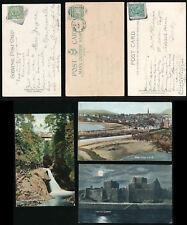 ISLE of MAN KE7 PEEL DUPLEX + SQUARED CIRCLES USED EARLIER + LATER 1903-11 PPCs