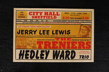 Jerry Lee Lewis Poster 1958 Shefeild City Hall Treniers
