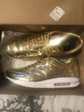Nike Air Max 1 Premium Liquid Gold/white UK 11