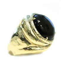 New IPPOLITA New Black Onyx  18K Gold Ring  Size 5.75