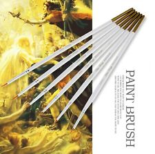 Art Extra Fine Detailed Slim Tip Acrylic Watercolor Oil Drawing Painting Brushes