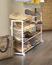 Whitmor Standing Shoe Rack Organizer Shelf White Resin Home Office Dorm Room Art