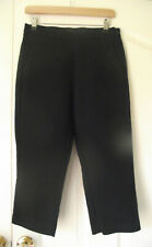 MARKS & SPENCER Trousers Black Capri Pants Rockabilly 1950s High Rise UK size 10