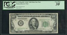 FR2155m* $100 1934C FRN MULE STAR NOTE (ONLY 2 KNOWN) WLM5060