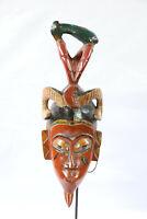 AW8 Guro Baule Maske alt Afrika / Masque Gouro ancien / Old tribal mask Africa