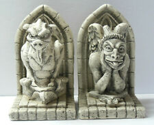 Vintage Gothic Gargoyle Medieval Castle Bookends Set VG Condition FAST SHIPPING