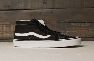 Vans scarpe uomo Sk8-mid reissue (retro sport) black/true white  skate sneakers