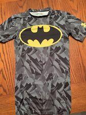 Under Armour Batman Compression Short Sleeve Tshirt Grey/Yellow Men's small