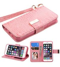 Mybat Magnetic Flip Crocodile Leather iPhone 6+ 6S PLUS Case  Wallet, Pink