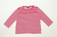 Maine Womens Size 14 Striped Cotton Blend Pink Top (Regular)