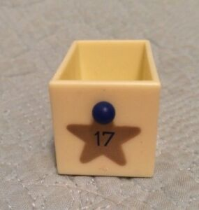 Avon Vintage Advent Calendar Christmas Musical Tree Replacement Part Drawer  #17