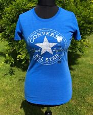 Converse All Stars Bright Blue T Shirt Size S New with Tags