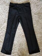 VINTAGE 1990s *WRANGLER* STA-PREST POLY PANTS 36x32 BLACK