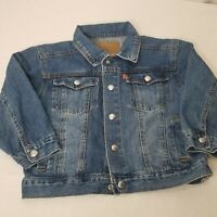 Levis Denim Trucker Jacket Kids Size 5 Blue Jean Jacket Medium Wash Coat