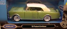 Green 1953 Packard Caribbean Convertible Welly 1:24 Scale Diecast Metal Car