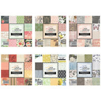 12Pcs Vintage Flower Paper Pad Single-sided Scrapbooking Origami Album Card DIY