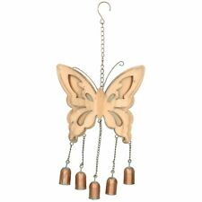 Butterfly Wind Chime Bell Hanging Garden Yard Ornament Decoration Metal Copper