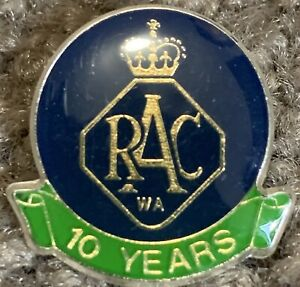 RAC (Royal Automobile Club) WA 10year Member Pin