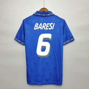 Retro 1994 Baresi #6 Soccer Jersey Vintage Italy Camiseta Classic High Quality