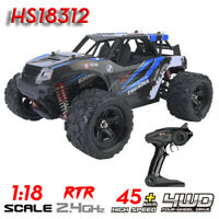 HS18312 1/18 4WD 45km/h High Speed Electric 2.4GHz RC Racing Car Model Car Toy