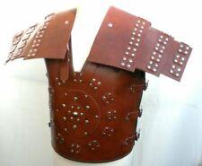 Mens Brown Genuine Leather Samurai Roman Gladiator Armour