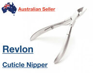 Revlon Stainless Steel Nail Nippers Clippers Cutter Cuticle Half Jaw Manicure