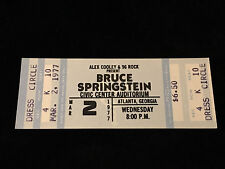 BRUCE SPRINGSTEEN-UNUSED CONCERT TICKET-BLUE-ATLANTA-MARCH 2-1977