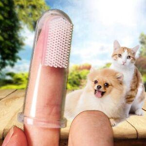 1PC Pet Finger Toothbrush Super Soft Teddy Dog Brush Bad Breath Teeth Care Tool
