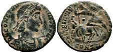 CONSTANTIUS II (351-355 AD) AE Follis. Constantinople #PA 8805