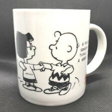 A Friend is Someone Who Thinks You're A Good Dancer CHARLIE BROWN Lucy mug cup